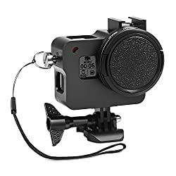 Rhodesy Gopro Hero 2018 Hero 6 Hero 5 Aluminum Alloy Protective Case With 52mm Uv Lens Filter & Cap, Housing Frame Case For Gopro Hero 2018 Hero 6 Hero 5 Camera