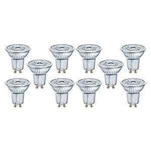 Osram LED SuperStar PAR16 Reflektorlampe, mit GU10-Sockel, dimmbar, Ersetzt 4.5W/4.1W=35 Watt, 36° Ausstrahlungswinkel, Warmweiß - 2700 Kelvin, 10er-Pack