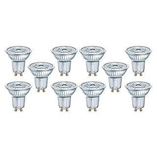 Osram LED SuperStar PAR16 Reflektorlampe, mit GU10-Sockel, dimmbar, Ersetzt 50 Watt, 36° Ausstrahlungswinkel, Warmweiß - 2700 Kelvin, 10er-Pack