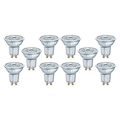 Osram LED Superstar PAR16, LED-Reflektorlampe mit GU10-Sockel, Dimmbar, Ersetzt 50 Watt, 36° Ausstrahlungswinkel, Warmweiß - 2700 Kelvin, 10er-Pack