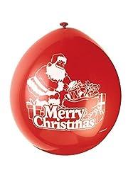 Idea Regalo - Partito Unico 9-Inch Lattice Babbo Natale Buon Balloons (pacchetto di 10)