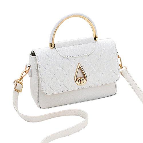 LAIDAYE Kleine Quadratische Freizeithandtasche Damebeutel Handtasche Schultertasche Messenger Bag 9