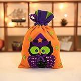 HLKE Halloween Gebürsteter Stoff Strauß Mund Kürbisbeutel Kürbis Hexe Kinder Tote Bag Candy Bag Party Dekoration gelb