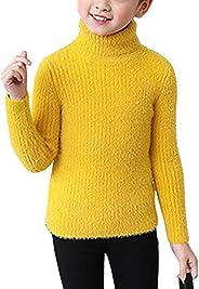 Suéter Niñas Cuello Alto Jersey Cálido Manga Larga Sweater Pullover