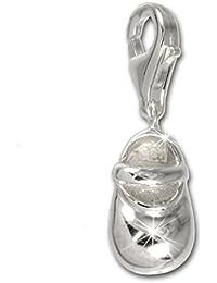 Plata de ley 925 SilberDream Charm bebé zapato colgante para pulsera cadena pendientes FC3011