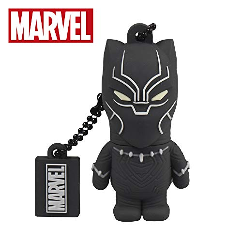 Chiavetta usb 32 gb black panther - memoria flash drive 2.0 originale marvel, tribe fd016706