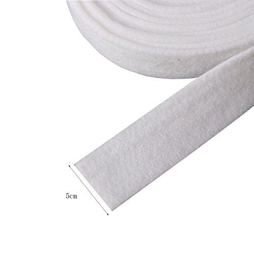 OULII 500cm Filzband Bastelfilz Dekoband Rolle Filzplatten für Weihnachten Advent Hochzeit DIY Dekorationen (Weiß)