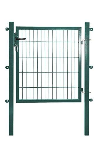Koll Living Gartentor für Stabmattenzäune, grün, BxH:1000x1000mm inkl. Pfosten - mit Befestigungsmaterial & Ersatzschlüsseln - Top Qualität zum Bestpreis!