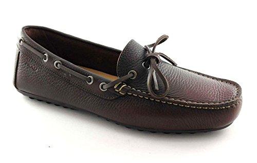 Frau 31L2 Chaussures Homme Bois Mocassins en Cuir sans Doublure Marron