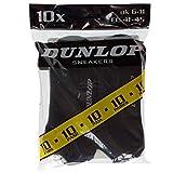 Dunlop 10 Paar Unisex Söckchen am Knöchel Sneaker aus weicher Baumwolle Farbe Schwarz Größe 41/45