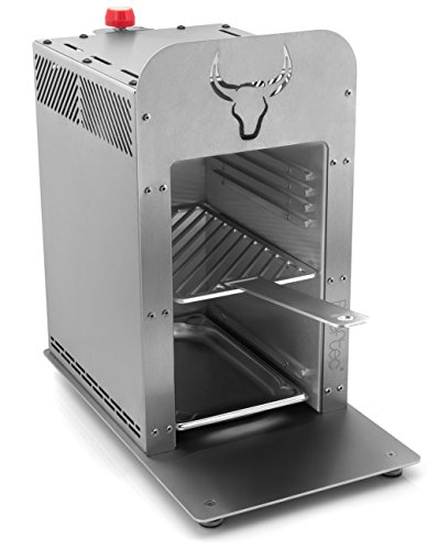 Beeftec HOTBOX C900 | Der 800 Grad Oberhitze-Gasgrill aus Edelstahl | inkl. Gastroschale, Handschuhe u.v.m.