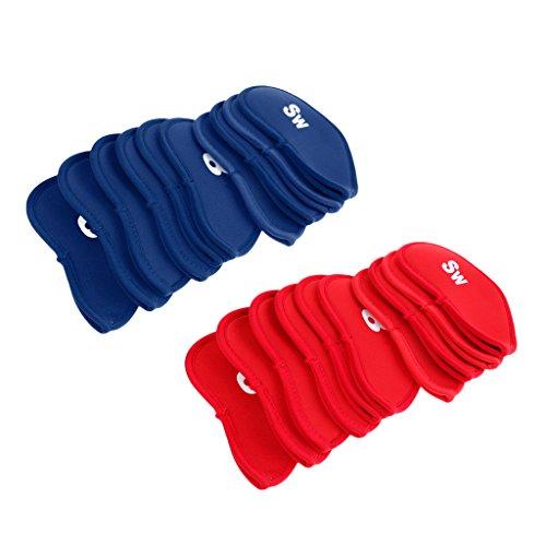 Toygogo Neopren Eisenhauben 20 Stück Golf Schlägerkopfhüllen Schlägerhauben Headcover Eisenkopfhüllen