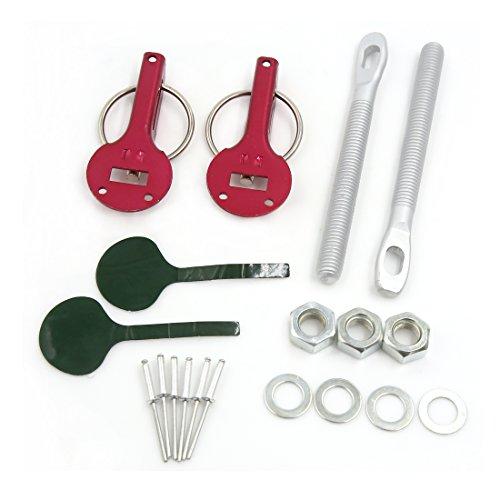 sourcingmap-Universal-Auto-Racing-in-lega-alluminio-borchia-montaggio-cofano-spina-bloccaggio-dispositivo-fissaggio-Kit-rosso