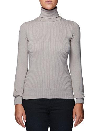 Dolcevita donna manica lunga Viscosa lana Microfibra antibatterica Maglieria collo alto Fashion Casual Sexy Maglieria Sensì Made in Italy - S/M-M/-L/XL grigiobb