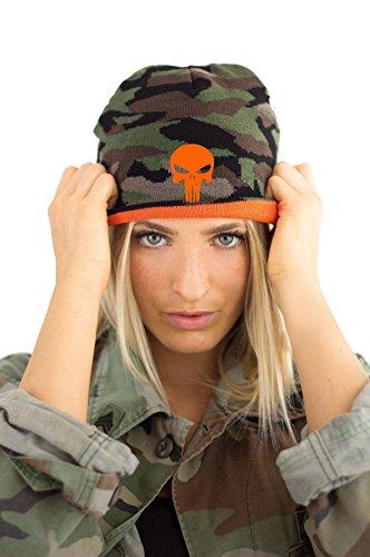 TRVPPY Damen Strickmütze Mütze Beanie mit Thinsulate, Modell Punisher , Camouflage