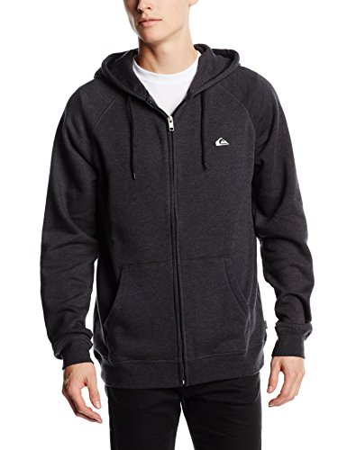 Quiksilver EVERYDAY ZIP M OTLR KVJ6-cappuccio Uomo    Black (Black (Anthracite)) X-Small