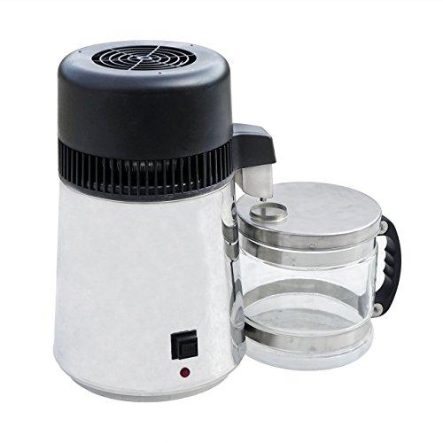 Das wasser brennerei wasser distiller edelstahl - basis mit glas mineralwasser - brennerei
