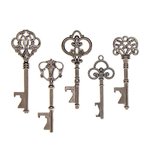 (50Schlüssel-Flaschenöffner–sortiert Vintage Skelett Schlüssel... anthrazit)