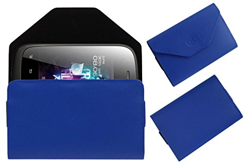 Acm Premium Pouch Case For Micromax A52 Flip Flap Cover Holder Blue  available at amazon for Rs.329