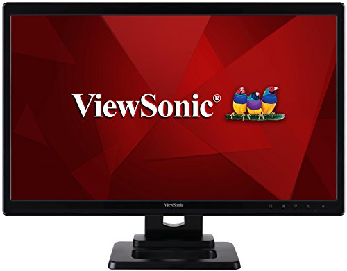 ViewSonic TD2420 59,9 cm (23,6 Zoll) 2-Punkt-Touch LED-Monitor (HDMI, DVI, VGA, 5ms Reaktionszeit, Lautsprecher) schwarz