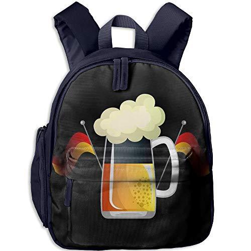 8c95049d86a1 German Beer and National Flag Toddler Kids Pre School Bag Cute 3D Print  Children School Backpack