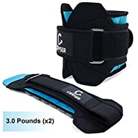 CIPPSER Premium Ankle Weights for Women & Men | Exercise Leg Weights Great for Glutes Workout, Running, Lifting, Jogging or Cardio | Choise of 1lb, 2lb, 2.5lb and 3lb Ankle Weight Sets blue