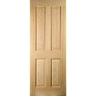 Oregon 26WOAK4FF 4-Panel Flush Bead White Oak Veneer Fire Resisting Internal Door