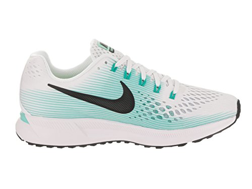 Nike Damen Wmns Air Zoom Pegasus 34 Laufschuhe WHITE/BLACK-AURORA GREEN