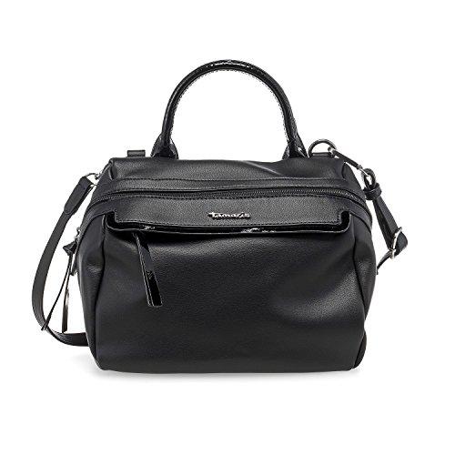 Tamaris Damen AVA Bowling Bag Handtasche 2242171-098 Damen Handtasche in Schwarz Klassischen Bowling-shirt