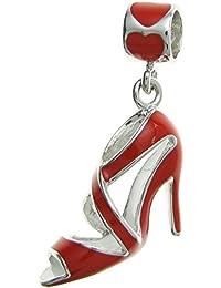 Esmalte Turquesa zapatos de tacón alto diseño de Clip en encanto 6miM8ZSQ