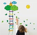 Kreative luft schloss wolke leiter cartoon wandaufkleber baby kind wachsen höhenmessung aufkleber kinderzimmer eingang dekor aufkleber