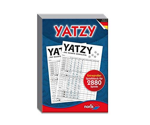 Noris 606194320 - Yatzy, Spielblock im Maxi-Format