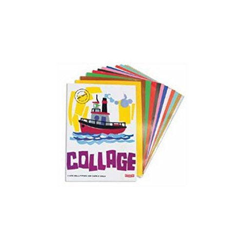 Carta rasata lucida Collage CWR 24x34 cm assortiti 12 ogli 701/12