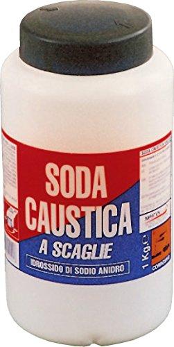 Kg 1 soda caustica scaglie in barattolo sverniciatore disgorgante disincrostante