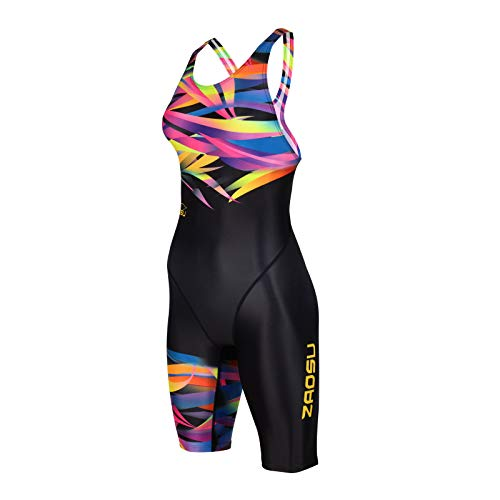 ZAOSU Damen & Mädchen Wettkampf-Schwimmanzug Z-Jungle | Competition Sport Badeanzug, Größe:152