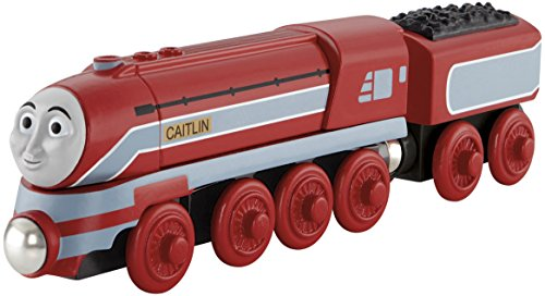unde Holzeisenbahn Spielzeug-Caitlin Motor-König der Bahn-Echtholz ()
