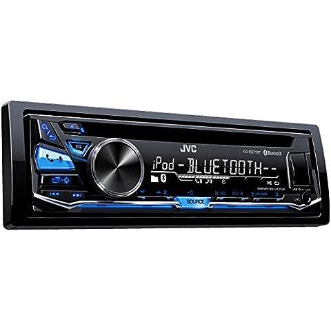 JVC KD-R871BT - Radio para coche (WAV, MP3, WMA, FLAC, 87,5 - 108 MHz, 531 - 1611 kHz, 153 - 279 kHz, LCD,
