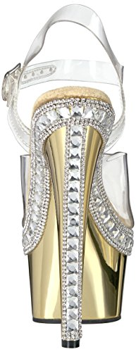 Pleaser ADORE-708RS-1 Clr/Gold Chrome