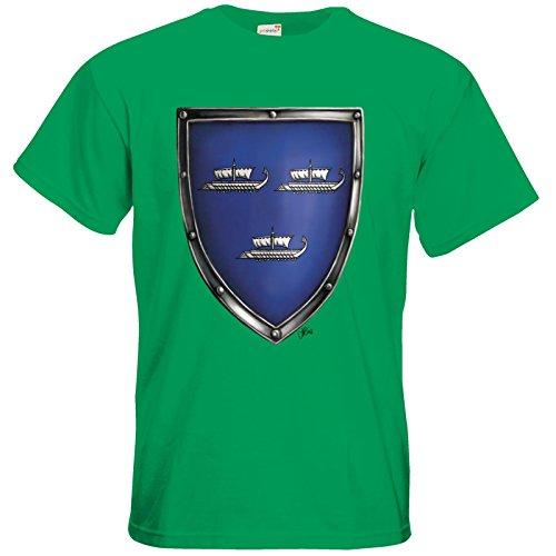 getshirts - Das Schwarze Auge - T-Shirt - Die Siebenwindküste - Wappen - Harben Kelly Green