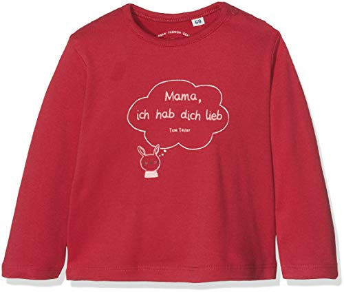 TOM TAILOR Kids Baby - Mädchen T-Shirt 1/1, Rot (Crimson|Red 2034), 62