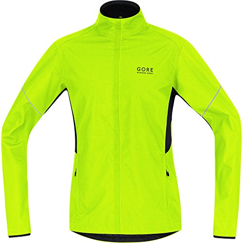 Gore Running Essential Windstopper Active Shell Partial Jacket Black Giallo/Nero