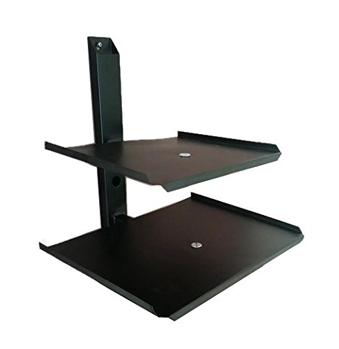 Smart Shelter Double Deck Set Top Box / DVD / Stabilizer / Playstation Wall Mount Stand  available at amazon for Rs.699