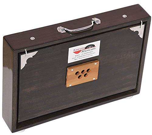 Shruti Box Total Wood Size (15' X 10' X 3') Inches~Tuned : 440 Hz, Gig Bag, Rat Color, Key -C To C (Lower Tone- Male Type Reed), Sur Peti, Surpeti, Yoga, Bhajan, Kirtan, Mantra, Drone