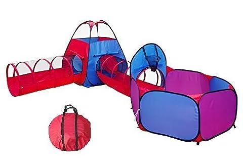 Losleina **NEU** 4-Teilig Kinder Bällebad Zelt mit Krabbeltunnel und Ball Pool ( 4in1 )
