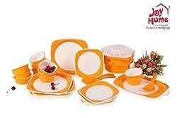 Joy Home Microwave Safe Dinner Set-32 Pcs Twin Colour Orange