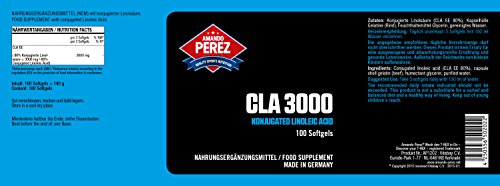 CLA – 3000 mg Pro Dosis – Hochdosiert – Konjugierte Linolsäure – 100 Softgels