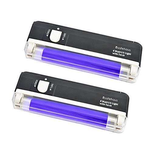 Compact Pro - Torcia ultravioletta luce nera, colore: nero 2 pz nero