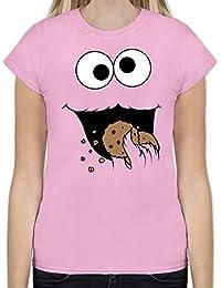 Karneval & Fasching - Keks-Monster - Tailliertes Tshirt für Damen und Frauen T-Shirt