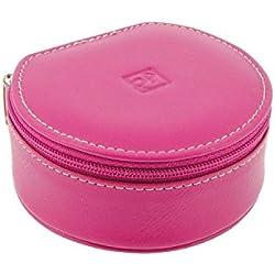 Jeweler leather zip round trip Size: U Color: PURPLE