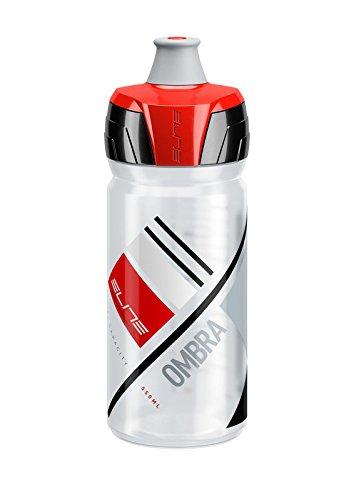 eLITe Ombra Trinkflasche, Transparent-Rot, 550 ml